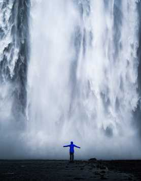 Waterfall of Skogafoss, Iceland