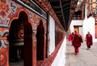 Monks in Paro, Bhutan