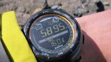 Altitude on the summit of Kilimanjaro