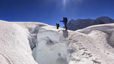 Ascent to the Island Peak, Nepal