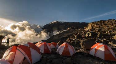 Barafu Camp during the Kilimanjaro ascent