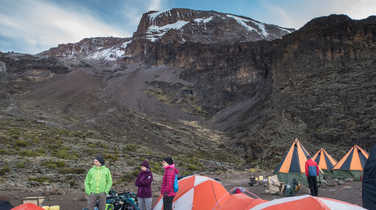 Barranco Camp during the Kilimanjaro ascent