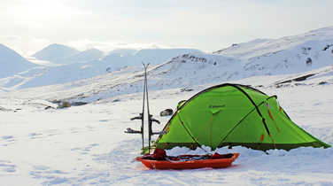 Base camp in Svalbard