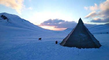 Camp in Spitsbergen