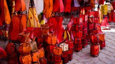 Colourful markets in Morroco