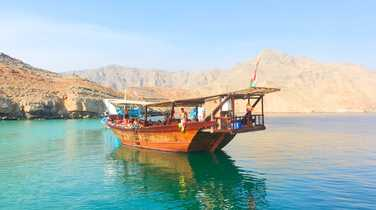 Dhow tour in the Musandam fjords
