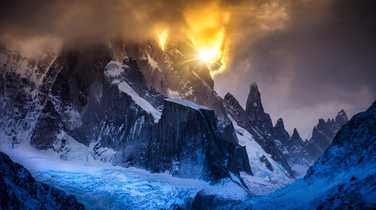 Dramatic sunset in Patagonia