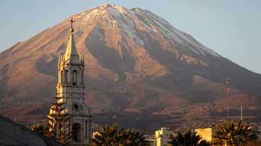 El Misti looming over the town of Arequipa
