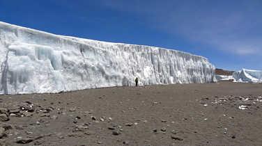 Glaciar in Kilimanjaro