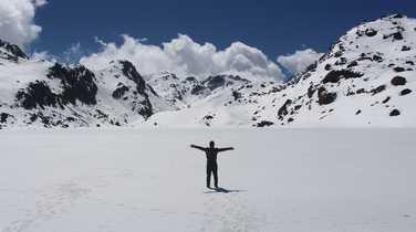 Hiker in the Langtang Valley