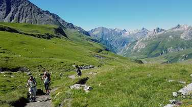 Hikers during the Mont Blanc Tour