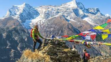 Hikers in Namche Bazaar, Nepal