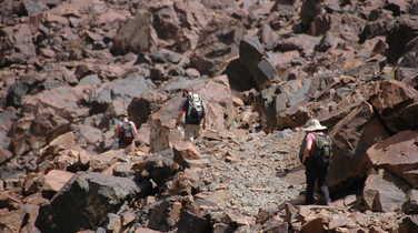 Hikers in the High Atlas region