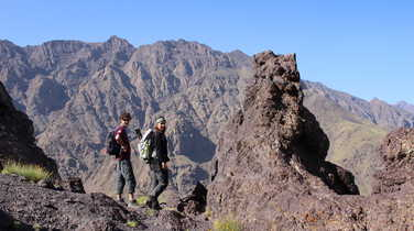 Hikers near Aremd village