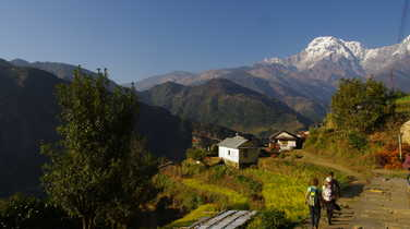 Hiking in the Annapurna balconies
