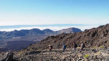 Hiking in the Teide National Park, Tenerife Island