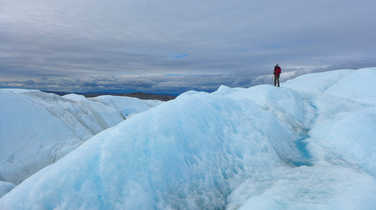 Hiking on the Ice Sheet in Greenland