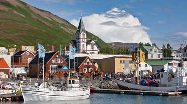 Husavik city in Iceland