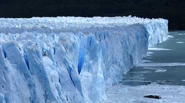Ice close-up of the Perito Moreno glacier