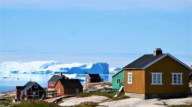 Inuit village in Greenland