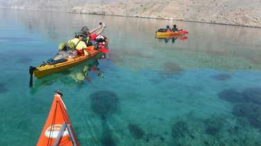 Kayaking in Musandam fjords