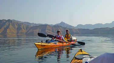 Kayaking in Musandam fjords