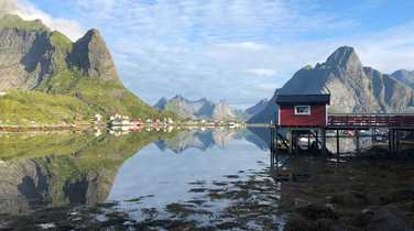 Little rorbu in Reine village, Lofoten islands, Norway