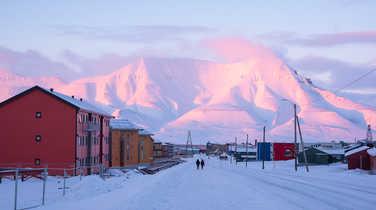 Longyearbyen, city of Svalbard, High Arctic