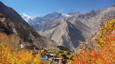 Lupra village during the Annapurnas Tour