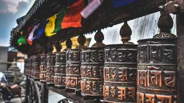 Prayer wheels in Katmandu, Nepal