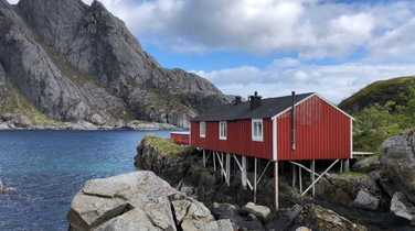 Rorbu, typical house in wood in Norway
