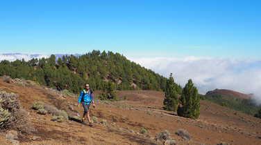 The volcano trail in La Palma