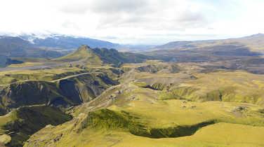 Land of Thorsmork, mountains of Iceland