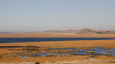 Titicaca lake in the Andes