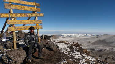 Uhuru peak, summit of Kilimanjaro
