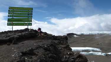 Uhuru Peak, summit of the Kilimanjaro
