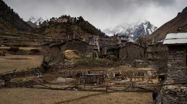 Village during the Manaslu Circuit Trek