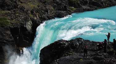 Waterfall in Torres del Paine National Park, Patagonia