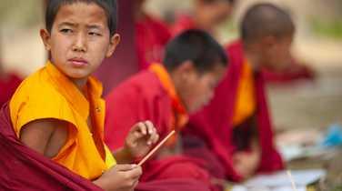 Young buddhist monk in Thimphu, Bhutan
