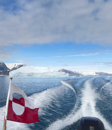 Boat trip in Greenland on the Eascost
