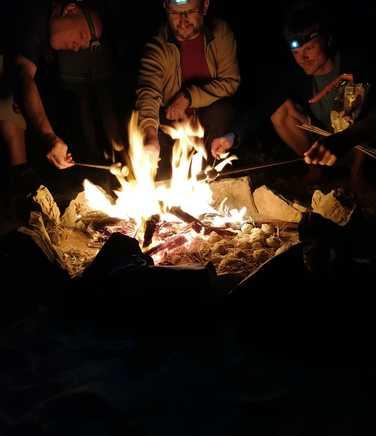 Camp fire in Musandam