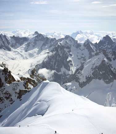 Climbers in Mont Blanc massif