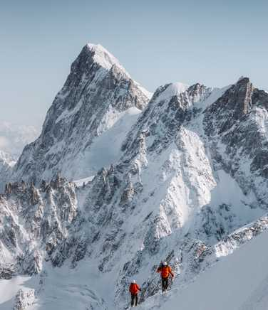 Climbing in Mont Blanc massif