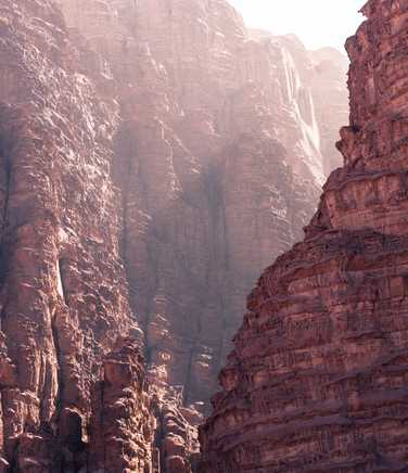 Deep canyon in the desert