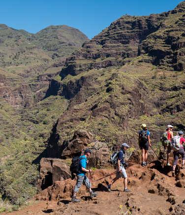 Hikers on La Gomera island
