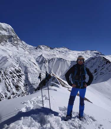 Trekker in the Langtang Valley