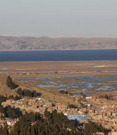 Puno city and the Titicaca lake