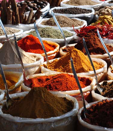 Spices in a market in Bhutan