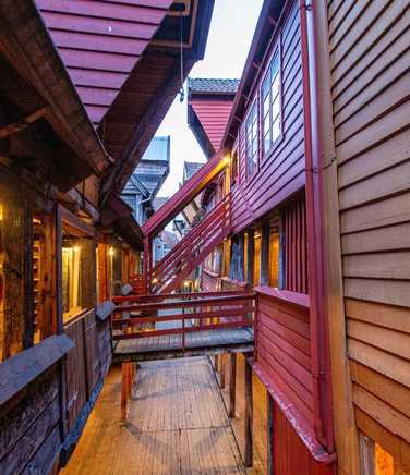 Streets of Bergen, Norway