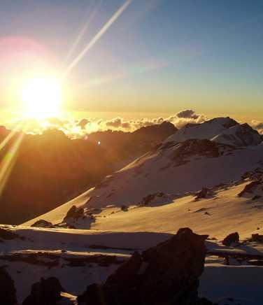Sunrise on Aconcagua